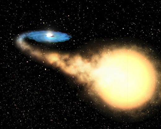 Artist's impression of stellar-mass black hole